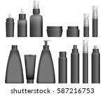 realistic black cosmetics... | Shutterstock .eps vector #587216753