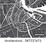 minimalistic amsterdam city map ...   Shutterstock .eps vector #587227673
