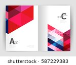 modern business brochure or... | Shutterstock .eps vector #587229383