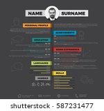 vector minimalist cv   resume... | Shutterstock .eps vector #587231477