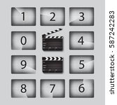 movie countdown numbers set... | Shutterstock .eps vector #587242283
