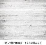 white wooden planks  tabletop ... | Shutterstock . vector #587256137