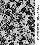 seamless black vector lace... | Shutterstock .eps vector #587257337