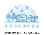 vector illustration of website... | Shutterstock .eps vector #587259167