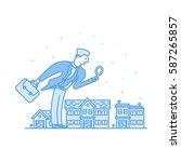 vector illustration of investor ... | Shutterstock .eps vector #587265857
