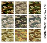camouflage pattern background... | Shutterstock .eps vector #587267573