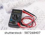 electrical engineering drawings ... | Shutterstock . vector #587268407