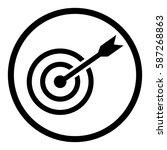 target icon in circle on white...