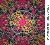vintage seamless pattern on a... | Shutterstock .eps vector #587269073