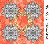 damask seamless pattern for... | Shutterstock .eps vector #587270237