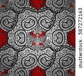 elegant vector classic pattern. ... | Shutterstock .eps vector #587272163