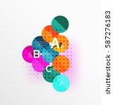 vector circle banner. vector... | Shutterstock .eps vector #587276183