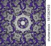 vector white pattern. seamless... | Shutterstock .eps vector #587282933