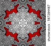 seamless oriental ornament in... | Shutterstock .eps vector #587284487