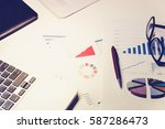financial service concept with... | Shutterstock . vector #587286473