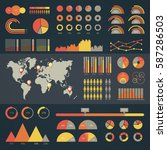 world map infographic. vector...   Shutterstock .eps vector #587286503