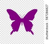 butterfly sign illustration.... | Shutterstock .eps vector #587286827