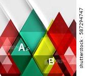 transparent triangle tiles... | Shutterstock .eps vector #587294747