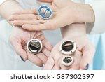 various artificial heart valves ... | Shutterstock . vector #587302397