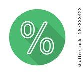 percent sign. flat linear long...   Shutterstock .eps vector #587333423