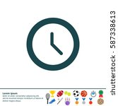 clock icon   vector... | Shutterstock .eps vector #587338613