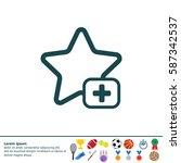 star favorite sign web icon. | Shutterstock .eps vector #587342537