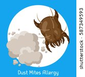 dust mites allergy. vector... | Shutterstock .eps vector #587349593