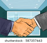 vector illustration of a two... | Shutterstock .eps vector #587357663