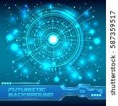 digital global technology... | Shutterstock .eps vector #587359517