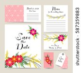 wedding invitation decorated... | Shutterstock .eps vector #587359883