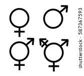 unisex symbol icon collection.