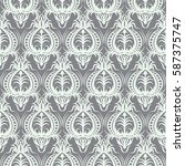 grey and white seamless pattern ... | Shutterstock .eps vector #587375747