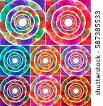 abstract colorful  flower ... | Shutterstock .eps vector #587385533