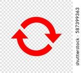 arrow sign reload refresh... | Shutterstock .eps vector #587399363