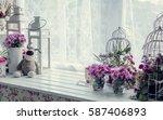provence style interior...   Shutterstock . vector #587406893