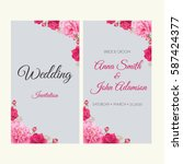 wedding invitation  thank you... | Shutterstock .eps vector #587424377