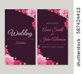 wedding invitation  thank you... | Shutterstock .eps vector #587424413