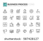 outline icons about business... | Shutterstock .eps vector #587428127