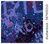 violet artistic neo grunge...   Shutterstock .eps vector #587435213
