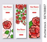 vertical banners with hand... | Shutterstock .eps vector #587438807
