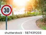 speed limit sign in the country ... | Shutterstock . vector #587439203