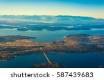aerial view of seattle  puget... | Shutterstock . vector #587439683