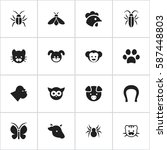 set of 16  nature icons....