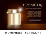 cosmetic ads template ... | Shutterstock .eps vector #587453747