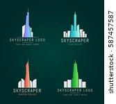 vector skyscrapers office  real ... | Shutterstock .eps vector #587457587