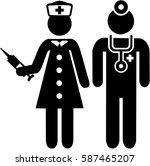 nurse and doctor pictogram   Shutterstock .eps vector #587465207
