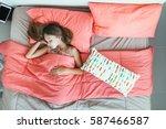 10 years old pre teen kid girl...   Shutterstock . vector #587466587