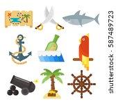 treasures pirate adventures toy ... | Shutterstock .eps vector #587489723
