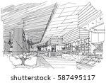 sketch streaks all day  ...   Shutterstock .eps vector #587495117
