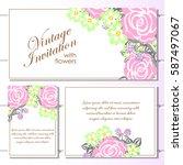 vintage delicate invitation... | Shutterstock .eps vector #587497067
